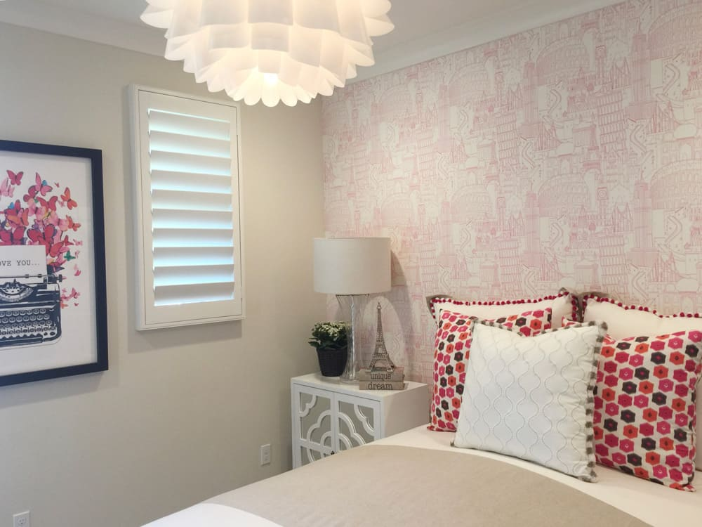 Synthetic Shutters in Bedroom